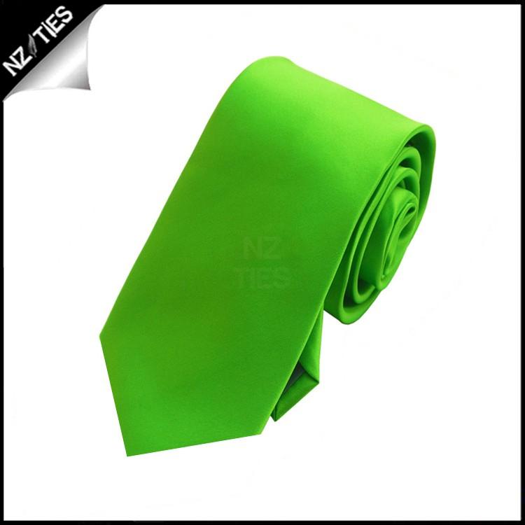 Boys Apple Kelly Green Plain Necktie
