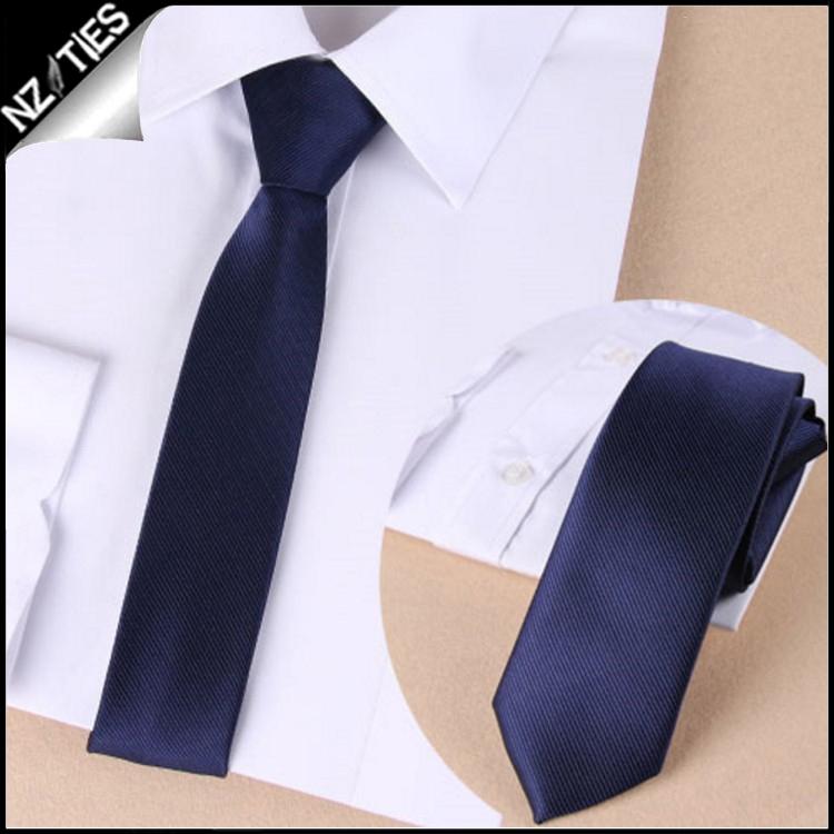 Mens Midnight Blue Zipper Necktie 2