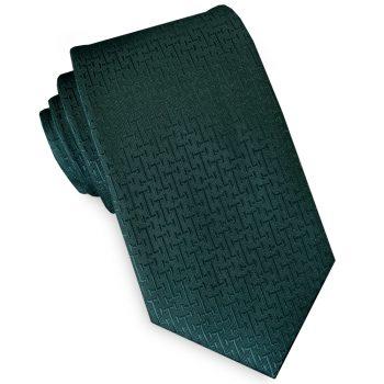 Dark Green Bar Texture Mens 7cm Necktie