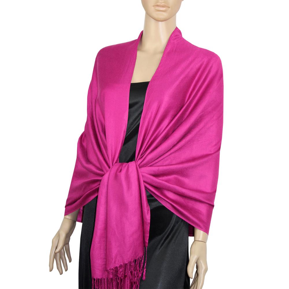 Fuschia Magenta Pink Ladies High Quality Pashmina Scarf