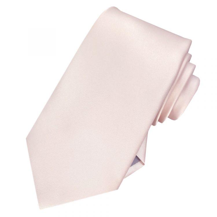 Men's Nude Pink Plain Necktie