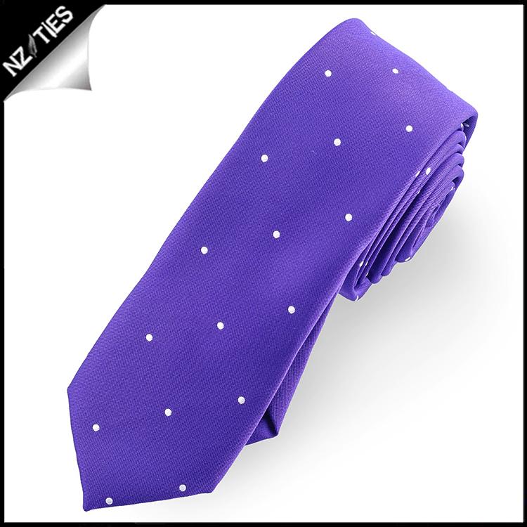 Cadbury Amethyst Pin Dot Mens Skinny Necktie