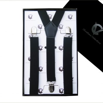 Black Y2.5cm Men's Extra Large Braces Suspenders