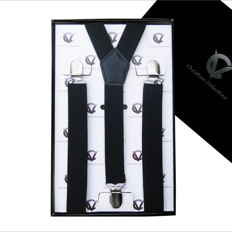 Black Y2.5cm Men's Extra Large Braces Suspenders
