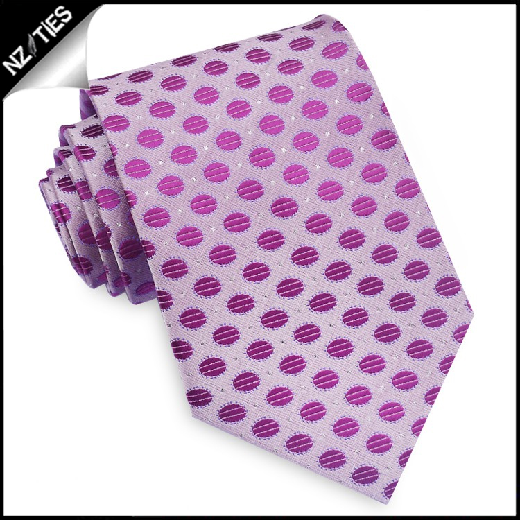 Lavender with Purple Polkadots & Highlights Mens Tie