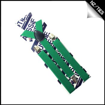 Emerald Green Boys Braces Suspenders