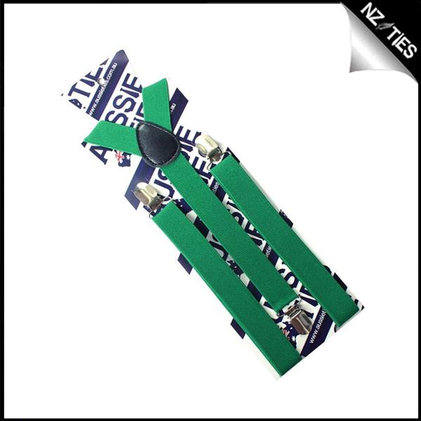 Emerald Green Boys Braces Suspenders