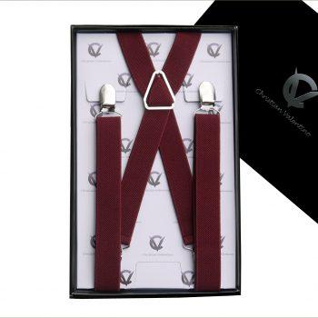 Burgundy X2.5cm Men's Braces Suspenders