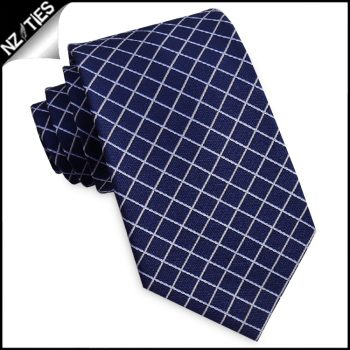 Dark Blue With White Diamonds Mens Necktie