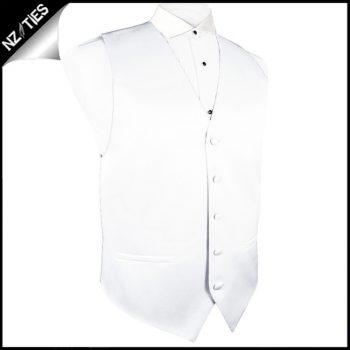 Mens White Waistcoat Vest
