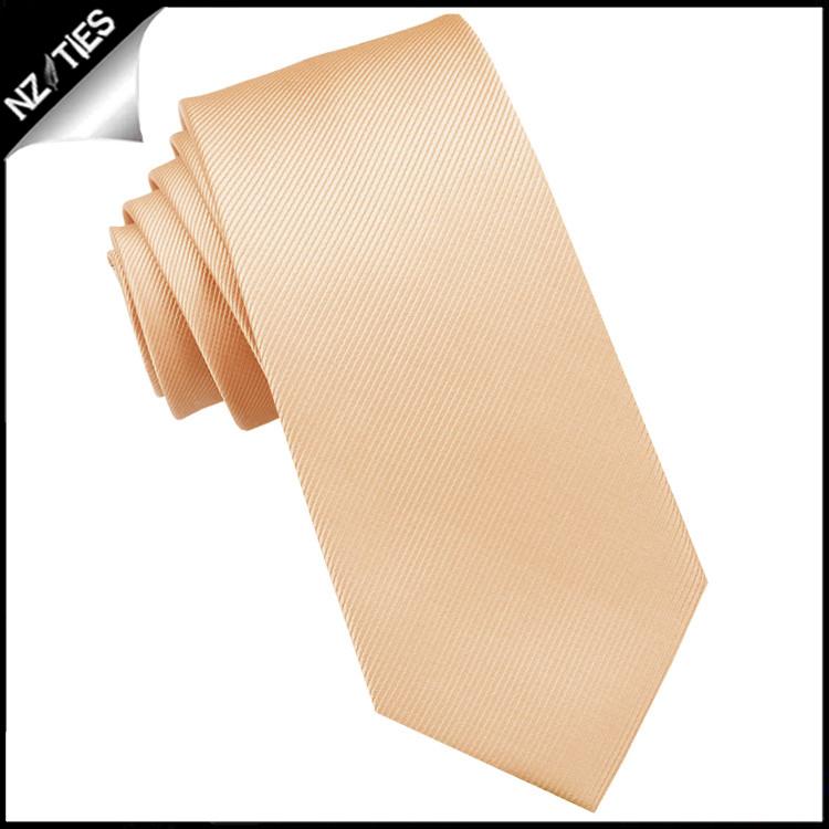Caramel Ribbed 6cm Mens Slim Tie