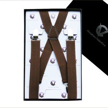 Mid Brown X2.5cm Men's Extra Large Braces Suspenders