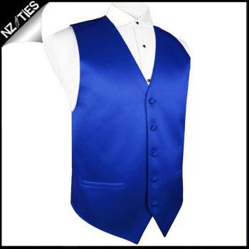 Mens Royal Blue Waistcoat Vest