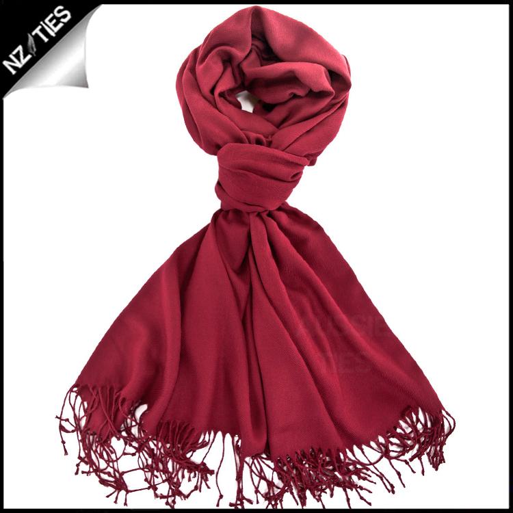 Scarlet Red Ladies Pashmina Scarf