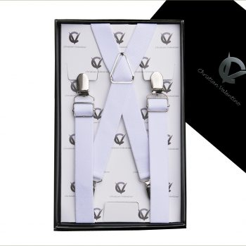 White X2.5cm Extra Large Braces Suspenders