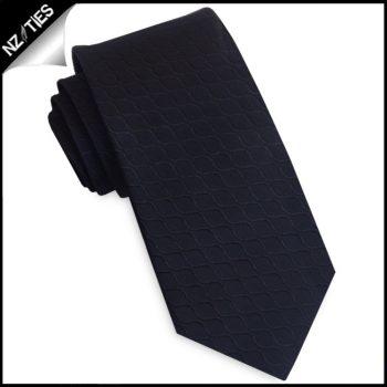Black Reptile Skin Men's Skinny Tie