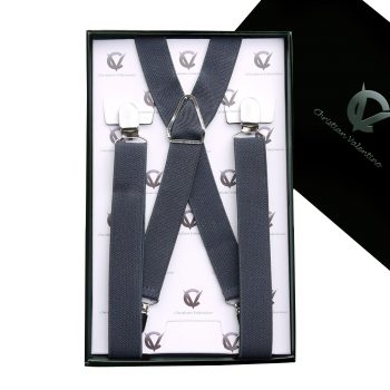 Dark Grey X2.5cm Braces Suspenders