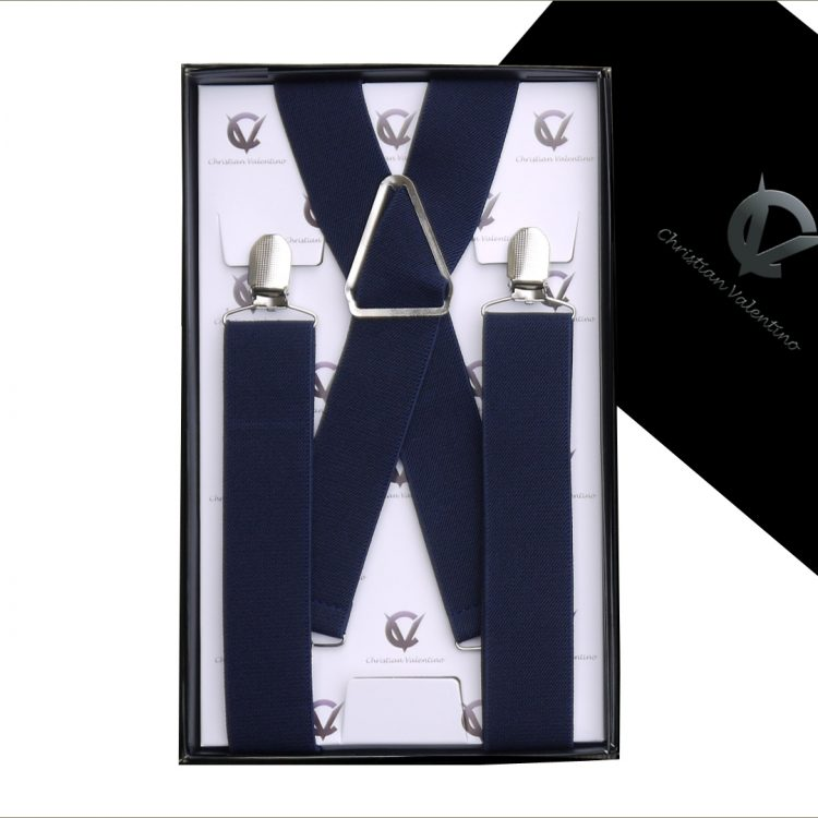 Midnight Blue X3.5cm Men's Braces Suspenders