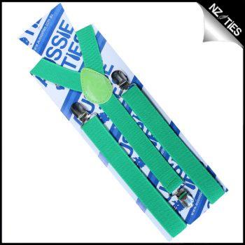 Bright Green Braces Suspenders
