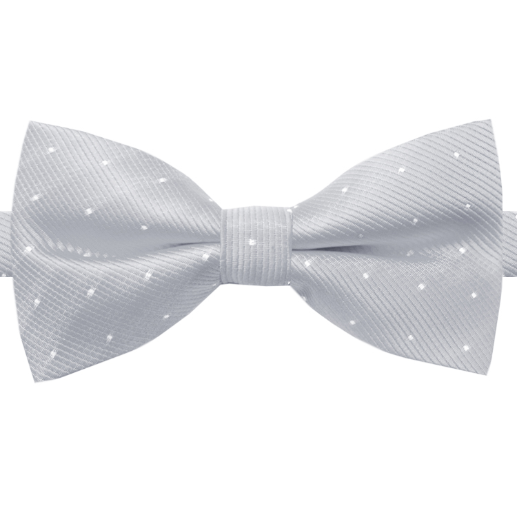 Light Grey with Small Dots Bow Tie