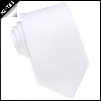 White Woven Texture Mens Tie