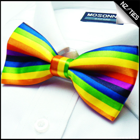 Mens Rainbow Multi-Coloured Bow Tie