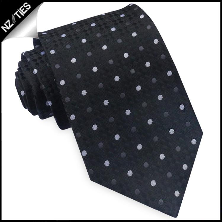 Black Diamond Texture with Polka Dots Tie Set 2
