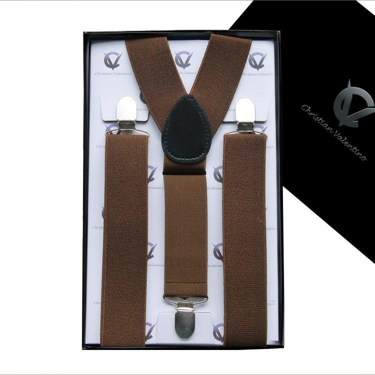 Mid Brown Y3.5cm Men's Braces Suspenders