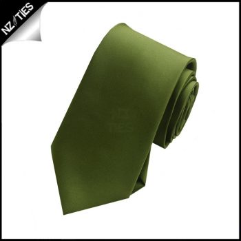 Boy's Olive Green Necktie