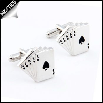 Mens Poker Playing Cards Cufflinks