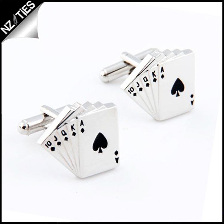 Mens Poker Playing Cards Cufflinks