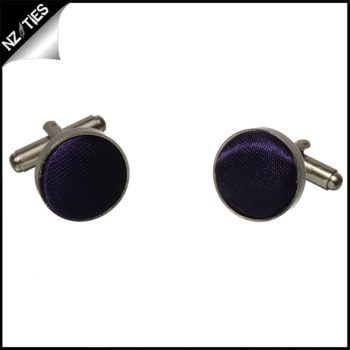 Mens Dark Purple Cufflinks
