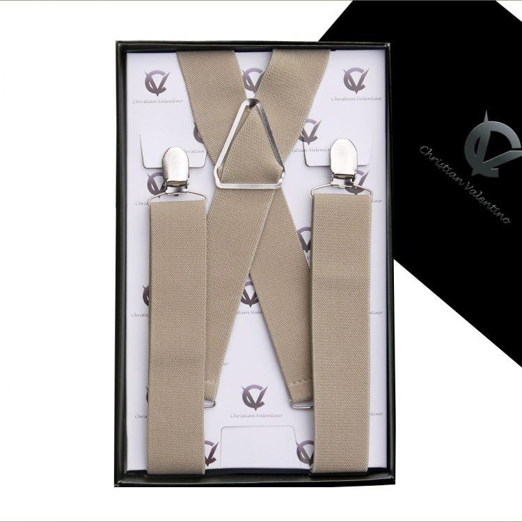 Mocha Light Brown X3.5cm Men's Braces Suspenders
