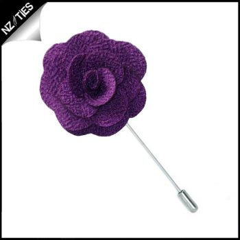 Purple Floral Lapel Pin