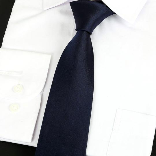 Dark Blue Silk Tie 2