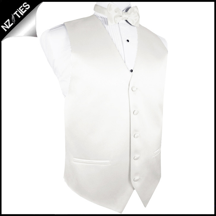 "Mens Ivory Champagne Waistcoat Vest 44"" / 112cm L 2"