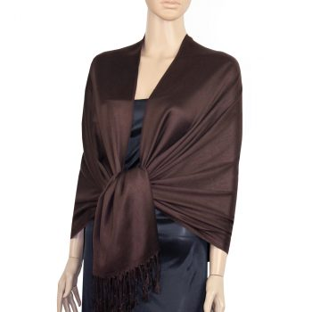 Dark Chocolate Brown Ladies High Quality Pashmina Scarf