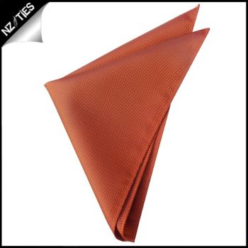 Burnt Orange Woven Texture Pocket Square