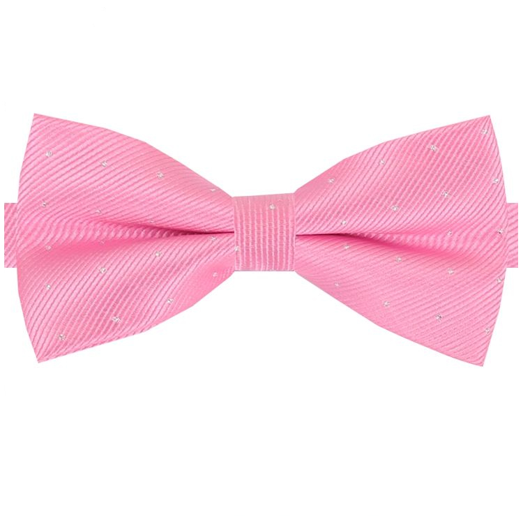 Pink with Small Dots Bow Tie
