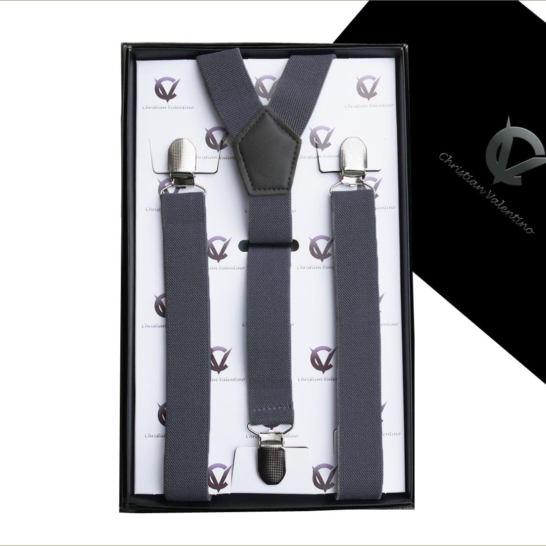 Boy's Dark Grey Y2.5cm Braces Suspenders