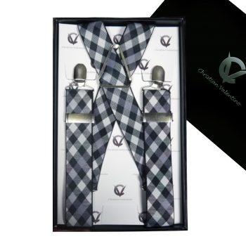 Black & White Check 3.5X XL Braces