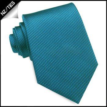 Peacock Blue Woven Texture Mens Tie