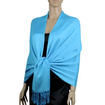 Bright Blue Ladies High Quality Pashmina Scarf