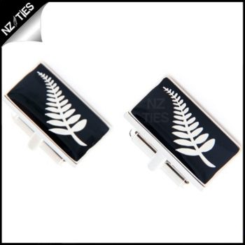 Mens NZ Silver Fern Cufflinks