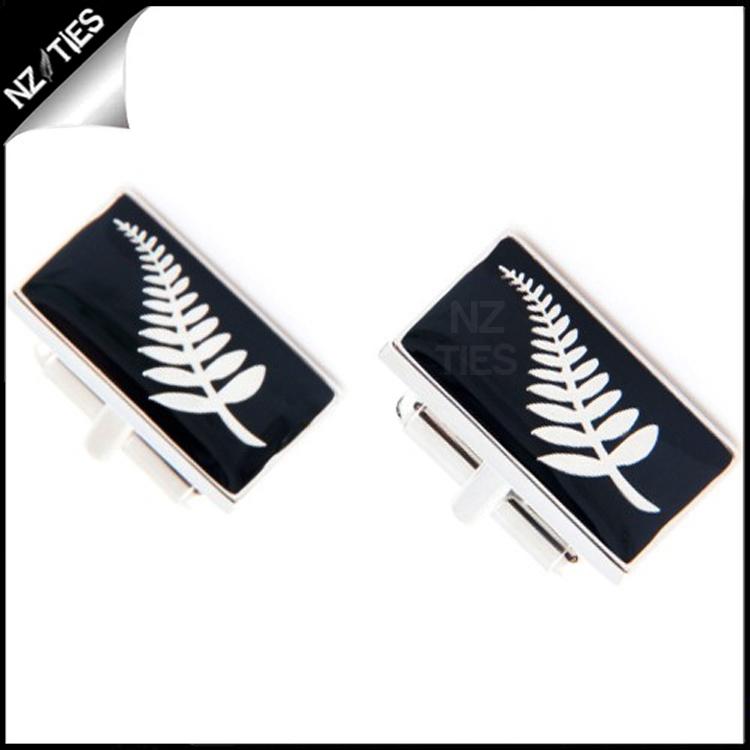 Mens NZ Silver Fern Cufflinks