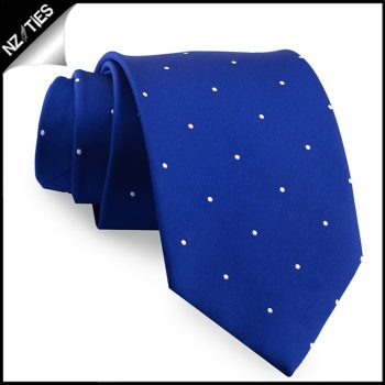 Navy Blue Pin Dot Mens Tie