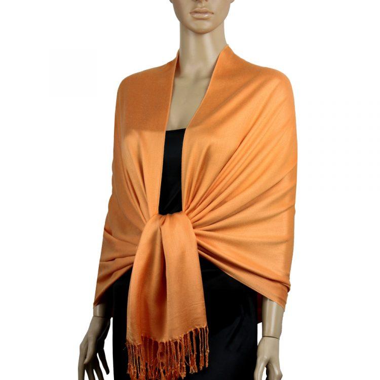 Peach Orange Ladies High Quality Pashmina Scarf