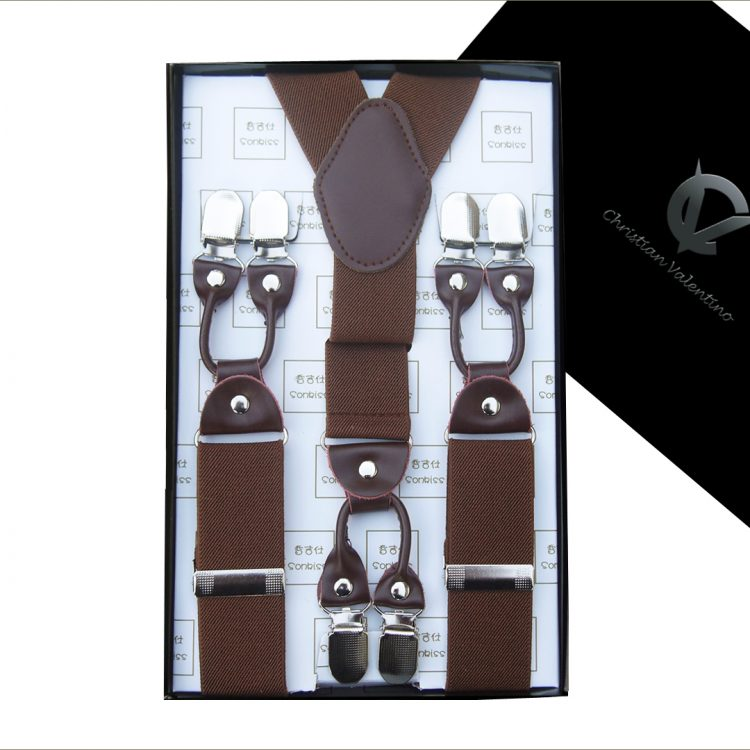 Mid Brown Leather Attachment Braces