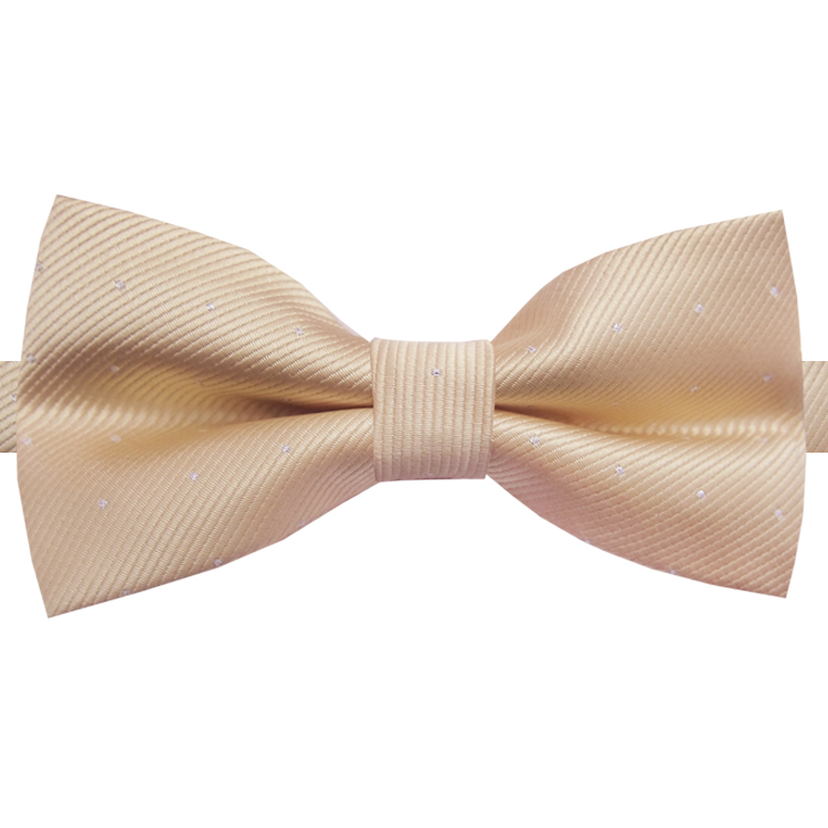 Beige with Small Dots Bow Tie