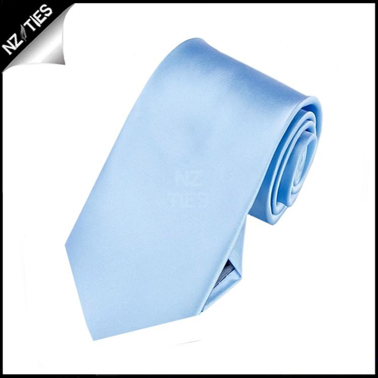 Boys Sky Baby Blue Plain Necktie